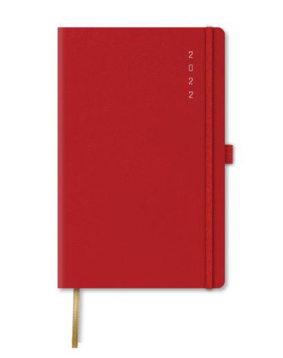 Kalendarz książkowy B5 czerwony
