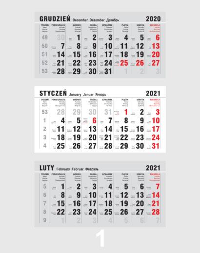 Kalendarz Trójdzielny Kalendarium 1