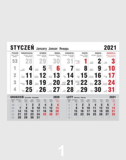 Kalendarz Jednodzielny Kalendarium 1