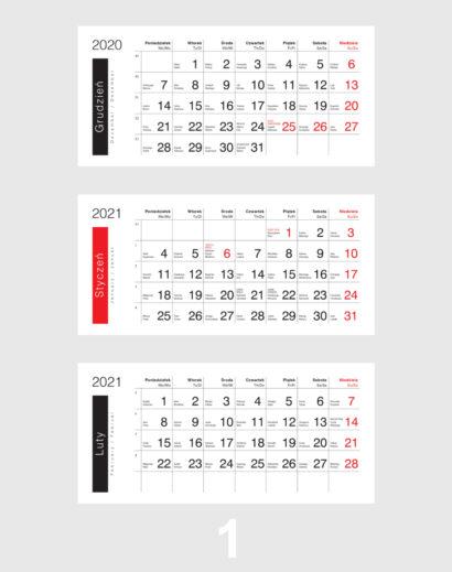 Kalendarium ekologicznego kalendarza trójdzielnego 1