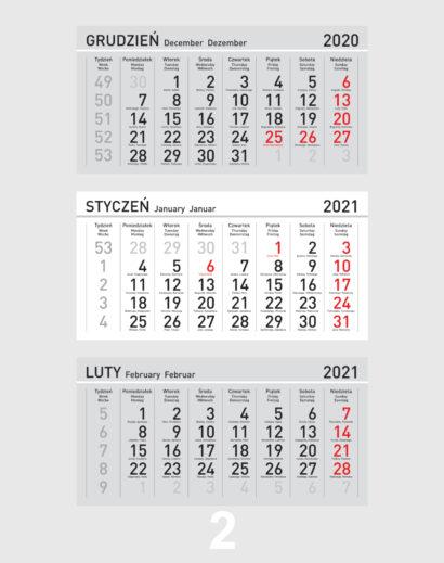 Kalendarz Trójdzielny Kalendarium 2