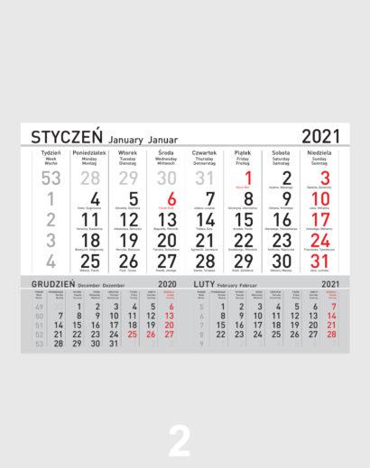Kalendarz Jednodzielny Kalendarium 2