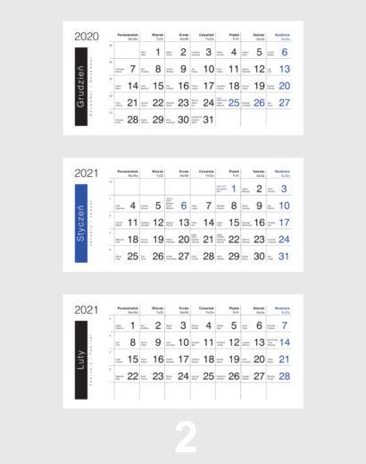 Kalendarium ekologicznego kalendarza trójdzielnego 2