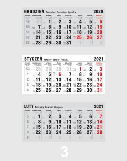 Kalendarium ekologicznego kalendarza trójdzielnego 3