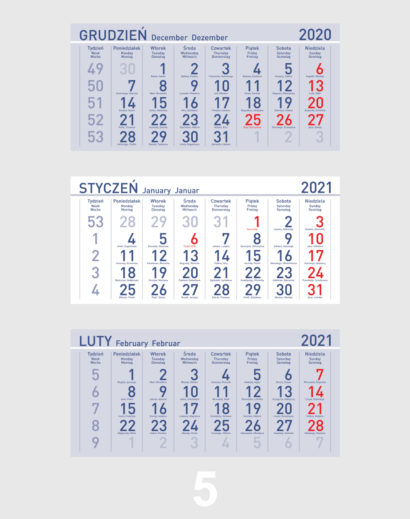 Kalendarz Trójdzielny Kalendarium 5