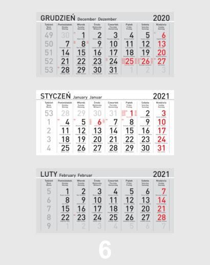 Kalendarium ekologicznego kalendarza trójdzielnego 6