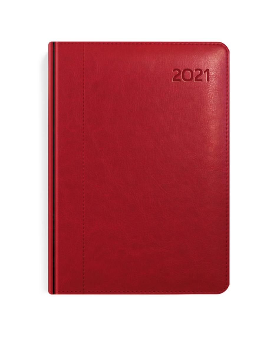Czerwony kalendarz A5