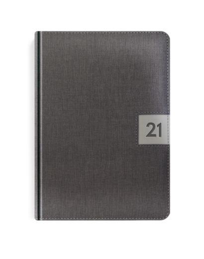 Szary kalendarz A5 książkowy