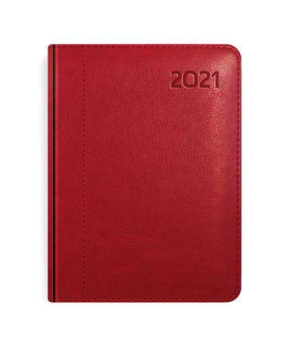 Kalendarz książkowy A6 czerwony
