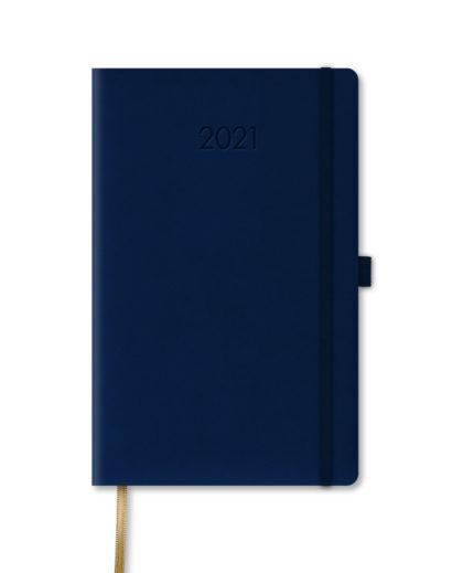 Ciemnoniebieski kalendarz A5 książkowy