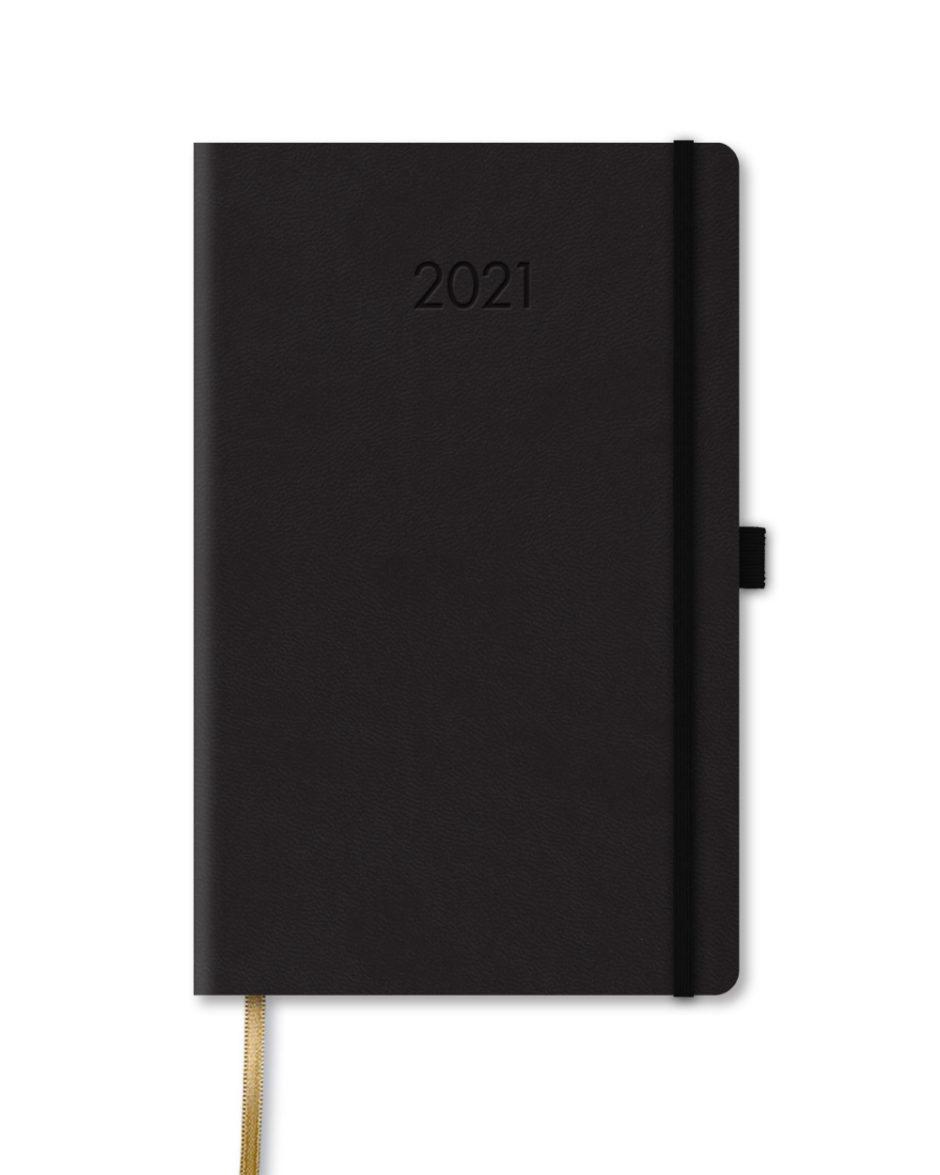 Ciemny kalendarz książkowy A5
