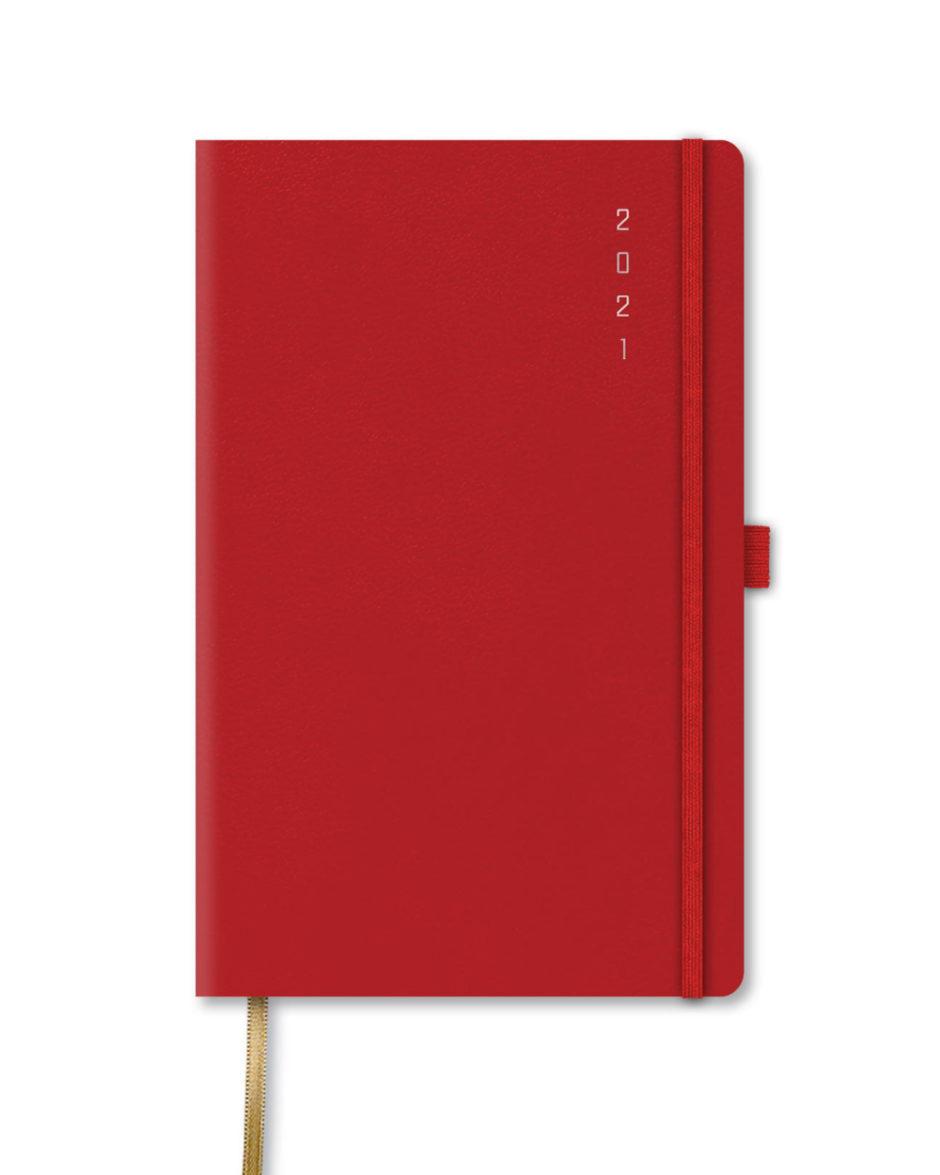 Czerwony kalendarz A5 książkowy