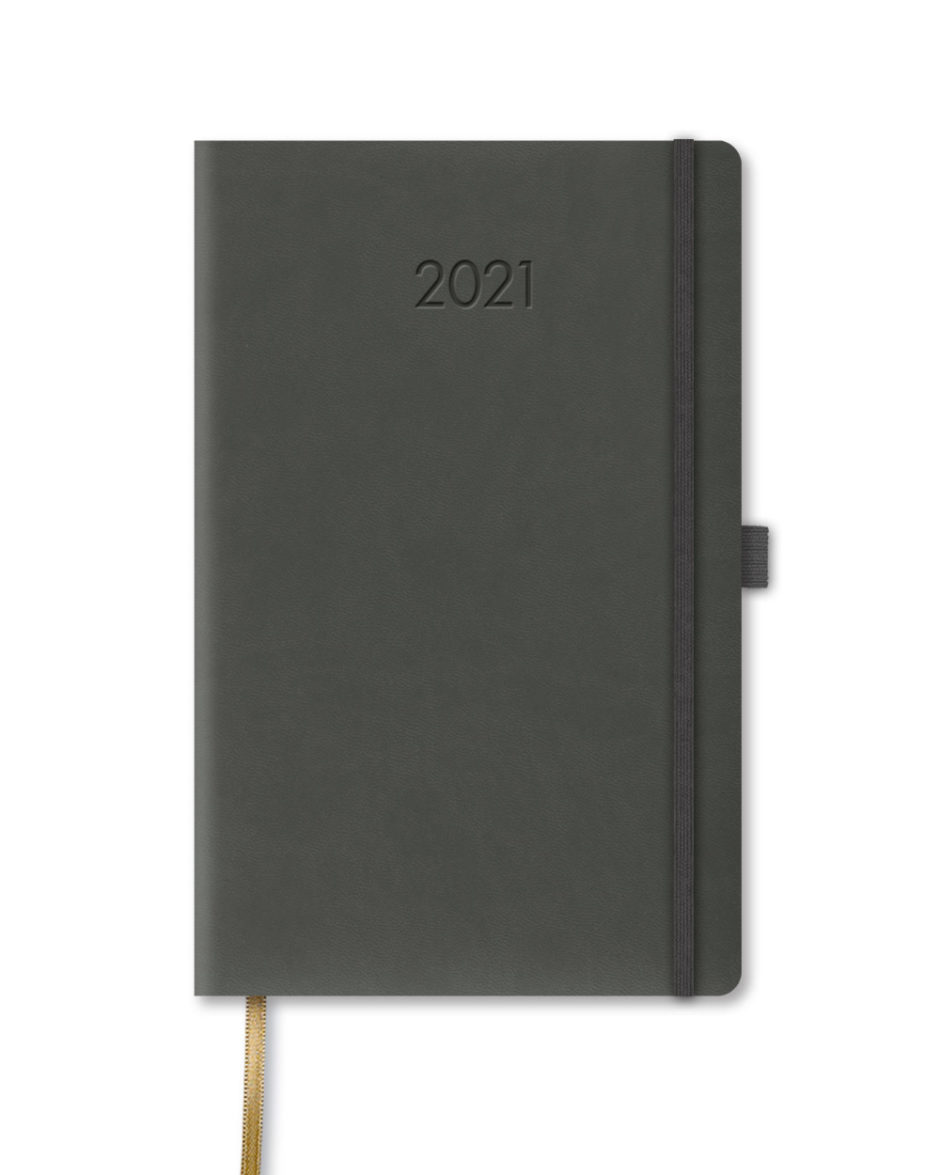 Szary kalendarz książkowy B5