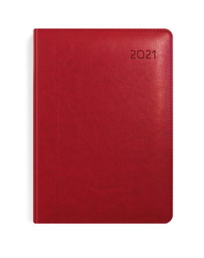 Bordowy kalendarz dzienny książkowy A4