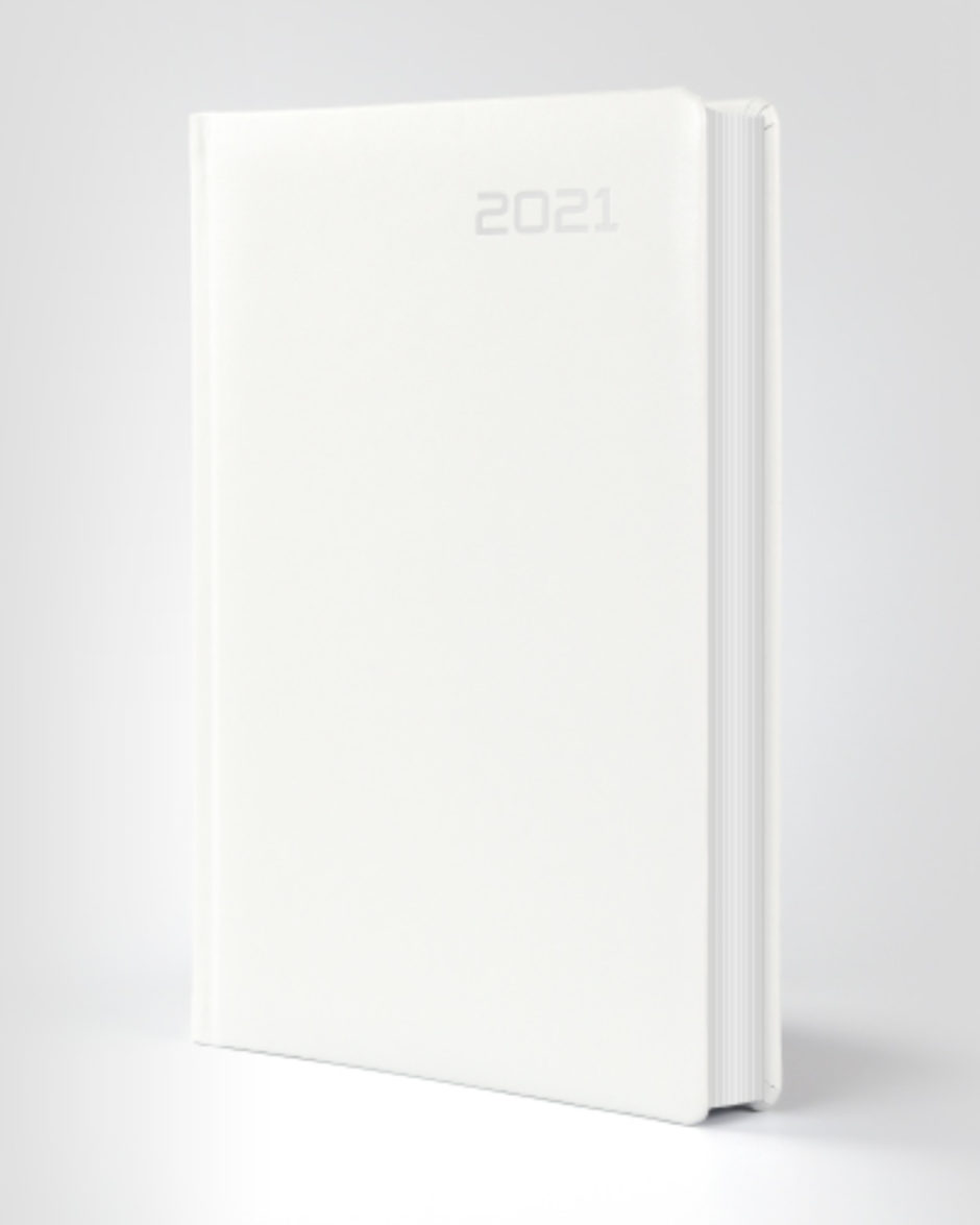 Biały kalendarz książkowy indywidualny
