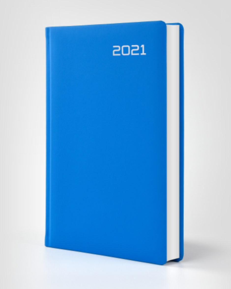 Lazurowy kalendarz książkowy autorski z gumy