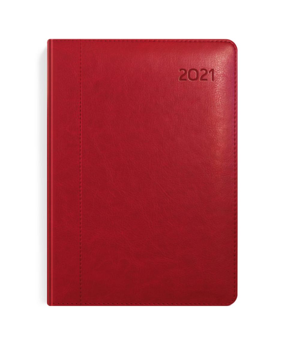 Kalendarz książkowy czerwony A4 tygodniowy