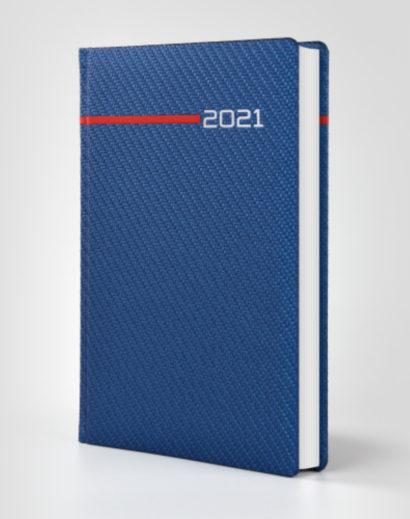 Granatowy kalendarz książkowy autorski presto