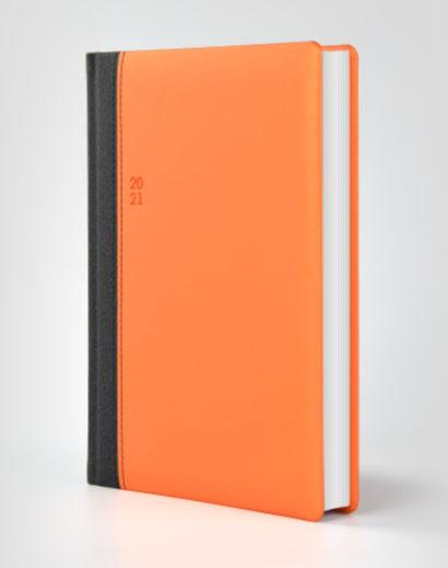Pomarańczowo szary kalendarz książkowy autorski