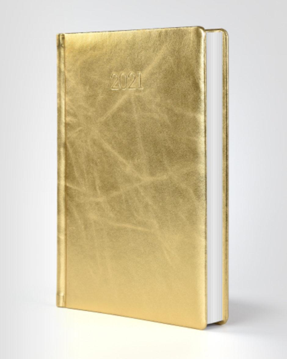 Kalendarz książkowy autorski złoty