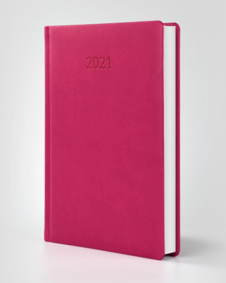 Kalendarz książkowy autorski Vivella różowy