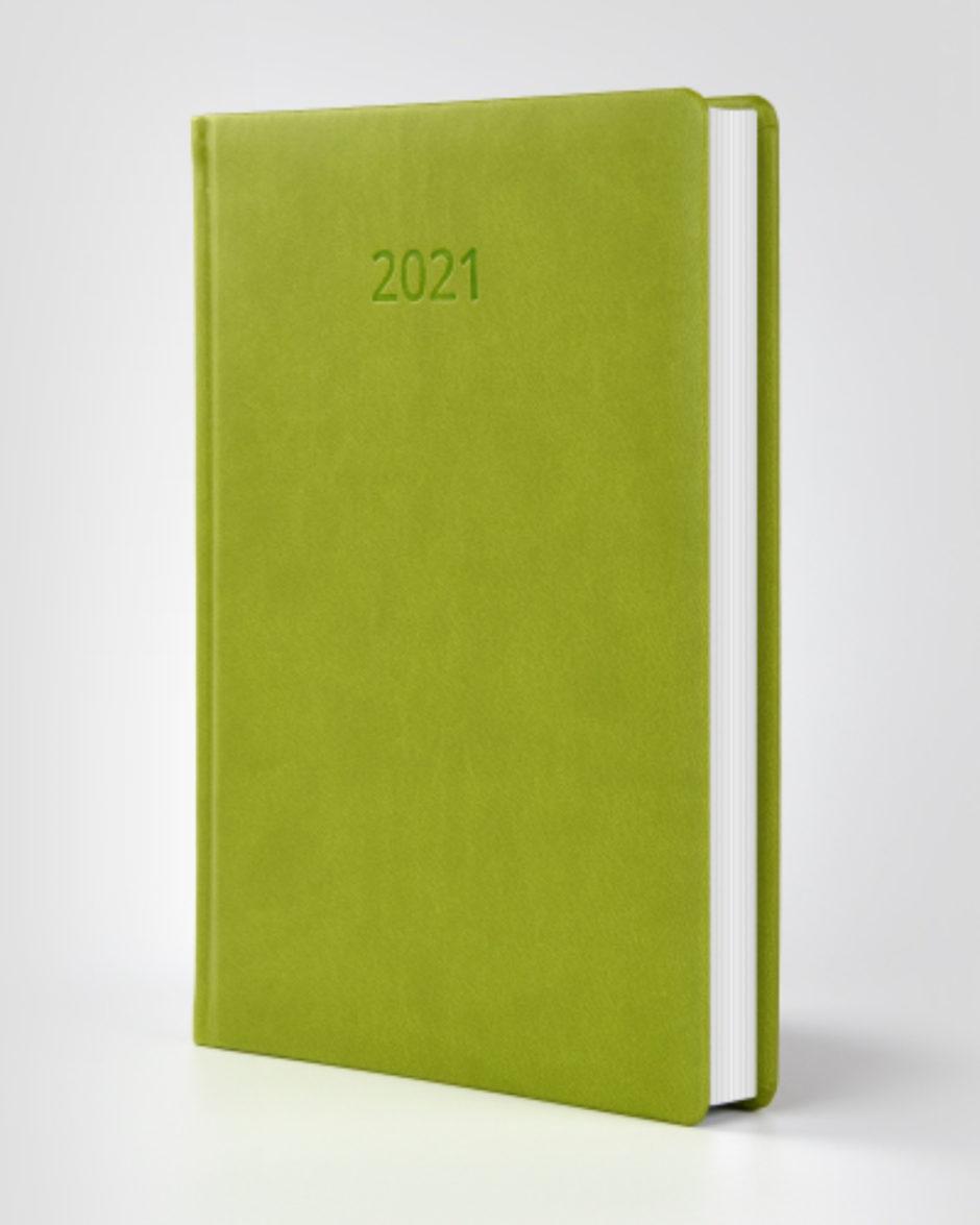 Kalendarz książkowy autorski Vivella jasnozielony