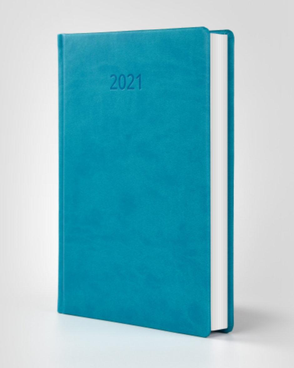 Kalendarz książkowy autorski Vivella błękitny