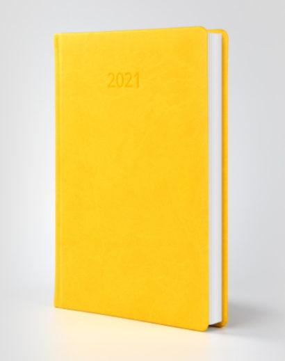Kalendarz książkowy autorski Vivella żółty