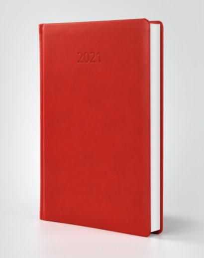 Kalendarz książkowy autorski Vivella czerwony