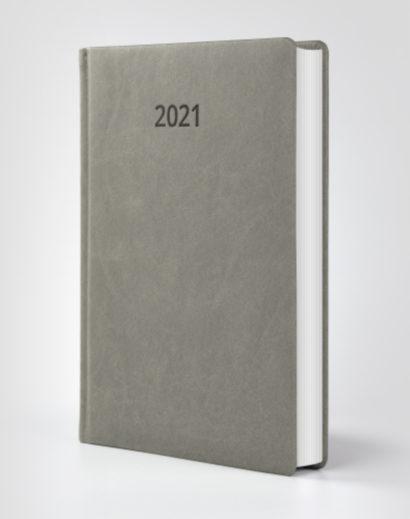 Kalendarz książkowy autorski Vivella szary