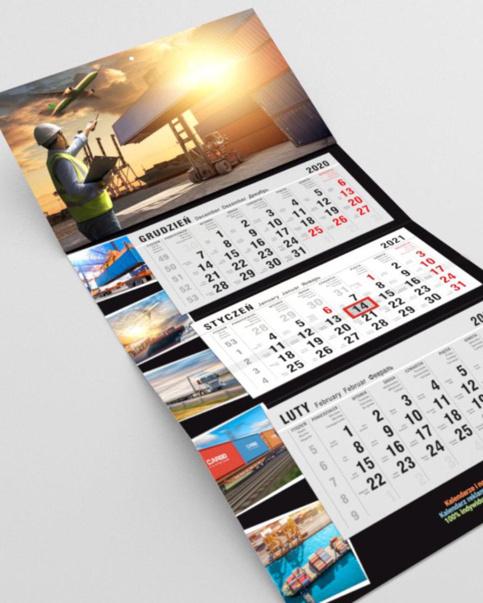 Indywidualny kalendarz trójdzielny LUX