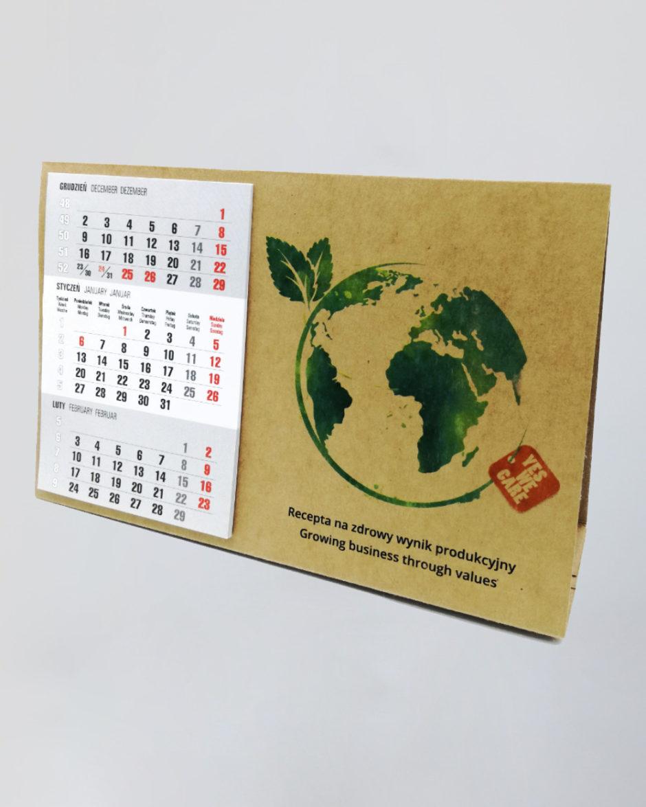 Kalendarz Biurkowy Ekologiczny Poziomy