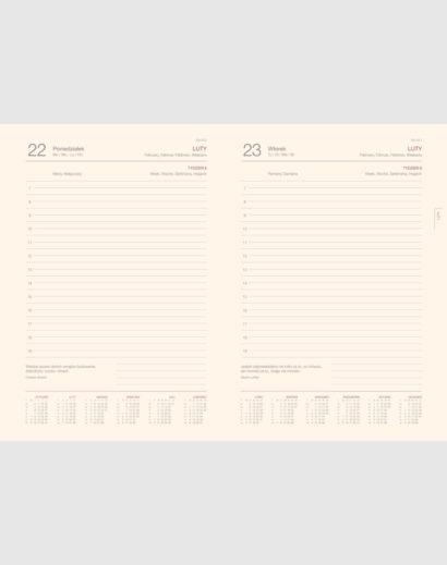 Duże kalendarium książkowe