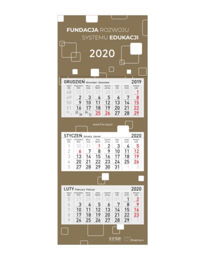 Ekologiczny kalendarz ścienny trójdzielny
