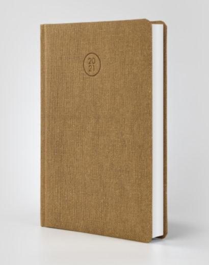 Ekologiczny brązowy kalendarz książkowy