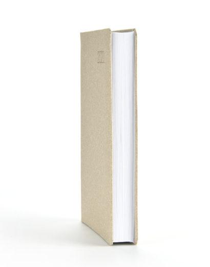 Książkowy kalendarz z naturalną okładką