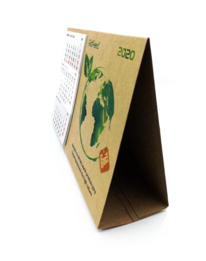 Kartonowy kalendarz biurkowy