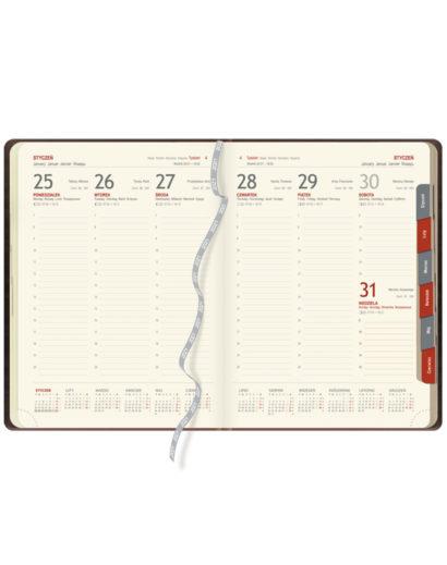 Kalendarium A4 Tygodniowe