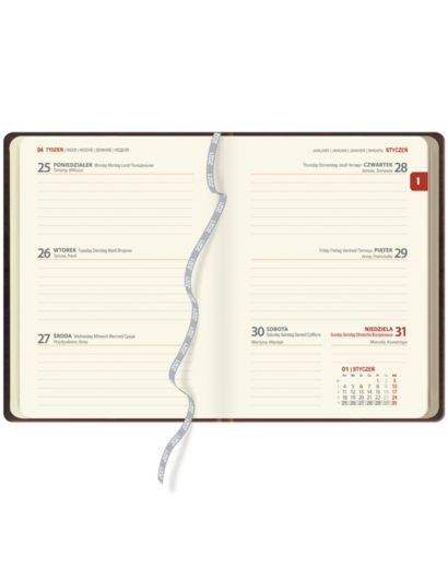 Kalendarium tygodniowe A6