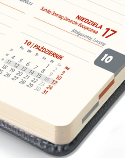 Brzeg kalendarza A6