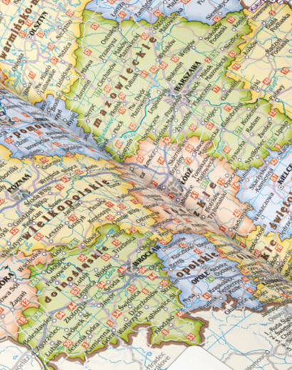 Mapa w kalendarzu dziennym A4