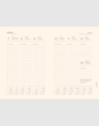 Kalendarz książkowy kalendarium