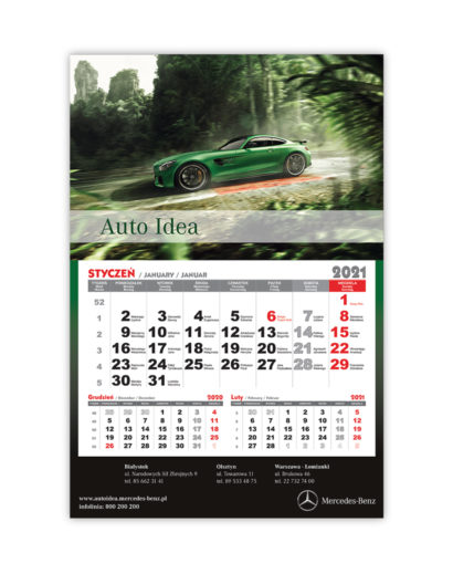 Kalendarz Jednodzielny Mercedes-Benz