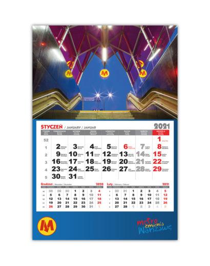 Kalendarz Jednodzielny Metro