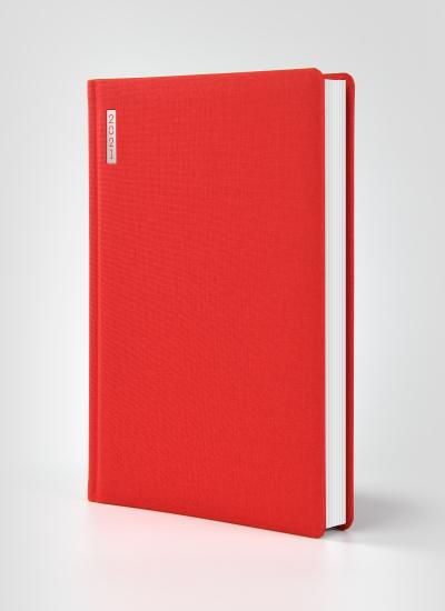 Kalendarz Książkowy Canvas Czerwon