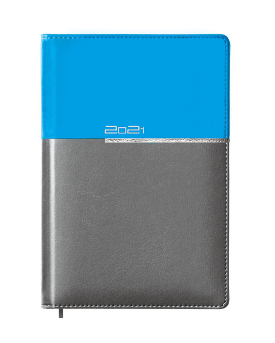 Niebiesko szary kalendarz książkowy A5