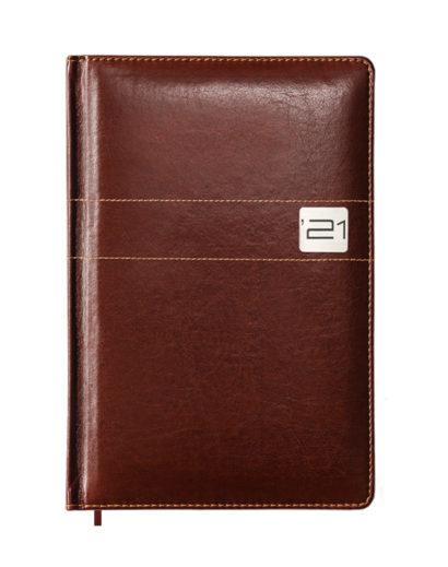 Klasyczny brązowy kalendarz tygodniowy B5