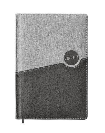 Elegancki szary kalendarz książkowy B5