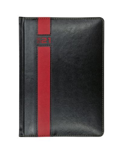 Kalendarz B5 z ciekawą czerwoną wstawką