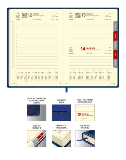 Kalendarium dzienne kalendarza A4